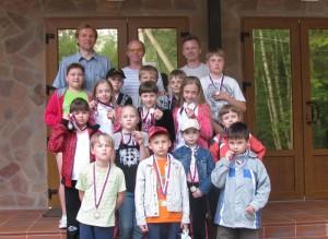 Участники лагеря вместе с тренерами
