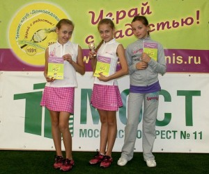Юные чемпионки клубных турниров